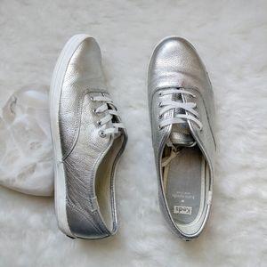 Keds ▪ Kate Spade Silver Leather